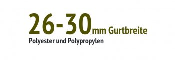 26 bis 30 mm Gurtbreite