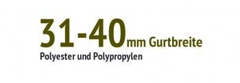 31 bis 40 mm Gurtbreite
