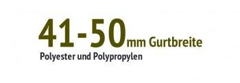41 bis 50 mm Gurtbreite