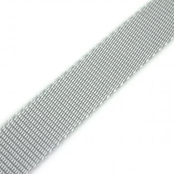 Gurtband 25 mm - PP - hellgrau - 50-m-Rolle