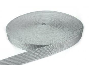 Gurtband 30 mm - PP - hellgrau - 50-m-Rolle