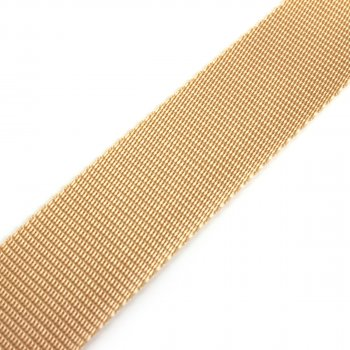 Gurtband 40 mm - PP - beige - 50-m-Rolle