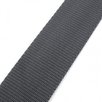 Gurtband 40 mm - PP - dunkelgrau - 50-m-Rolle