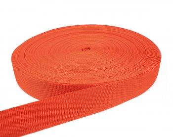 Gurtband 40 mm - PP - orange - 50-m-Rolle