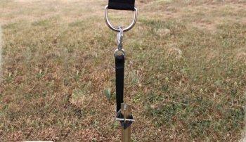 Sturmleinen Adapter für T-Hering mit Querstift