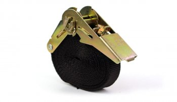 Spanngurt - 4,0 m - Farbe schwarz mit Ratsche - PES