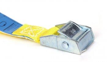 2 x Spanngurt 6,0 m - Gelb mit Klemmschloss - DIN EN 12195-2 - PES