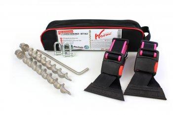 HT-Sturmleine Keder - pinke Kanten - Wurmi Set Aluminium