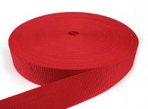 Gurtband 50 mm - PP - rot - 50-m-Rolle