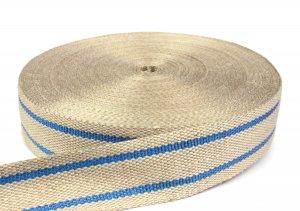 Stuhlbespanngurt / Jutegurt 70 mm - beige - 50-m-Rolle