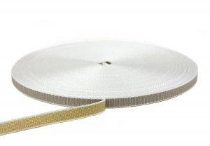 Rolladengurt 14 mm - zweifarbig beige/grau 50-m-Rolle