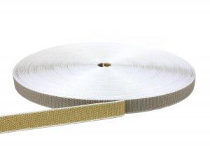 Rolladengurt 22 mm - zweifarbig beige/grau 50-m-Rolle