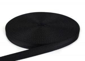 PES Gurtband - 20mm - schwarz - 50-m-Rolle