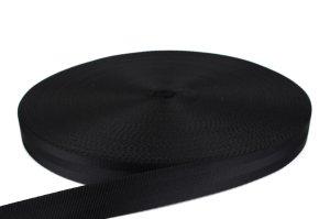 PES Gurtband - 30mm - schwarz - 50-m-Rolle