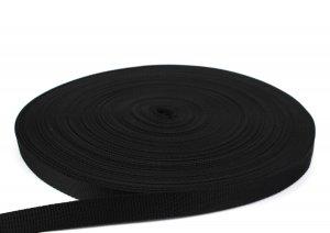 Gurtband 20 mm - PP - schwarz - 50-m-Rolle