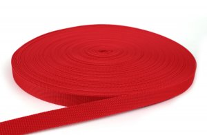 Gurtband 20 mm - PP - rot - 50-m-Rolle