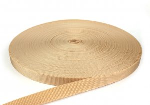 Gurtband 20 mm - PP - beige - 50-m-Rolle