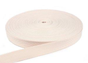 Gurtband 20 mm - PP - creme - 50-m-Rolle