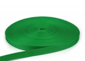 Gurtband 20 mm - PP - grasgrün - 50-m-Rolle