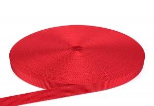 PES Gurtband - 18mm - rot gefärbt - 50-m-Rolle