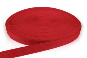 Gurtband 25 mm - PP - rot - 50-m-Rolle