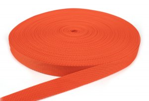 Gurtband 25 mm - PP - orange - 50-m-Rolle