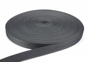 Gurtband 25 mm - PP - dunkelgrau - 50-m-Rolle