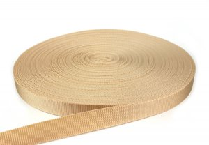Gurtband 25 mm - PP - beige - 50-m-Rolle