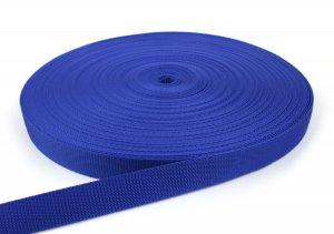 Gurtband 25 mm - PP - royalblau - 50-m-Rolle