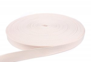 Gurtband 25 mm - PP - creme - 50-m-Rolle