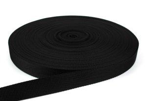 Gurtband 30 mm - PP - schwarz - 50-m-Rolle
