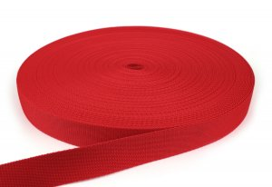 Gurtband 30 mm - PP - rot - 50-m-Rolle