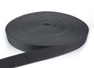 Gurtband 30 mm - PP - dunkelgrau - 50-m-Rolle