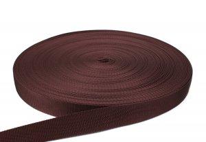 Gurtband 30 mm - PP - braun - 50-m-Rolle