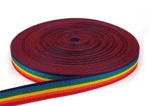 Gurtband 30 mm - PP - multicolor - 50-m-Rolle