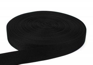 Gurtband 40 mm - PP - schwarz - 50-m-Rolle