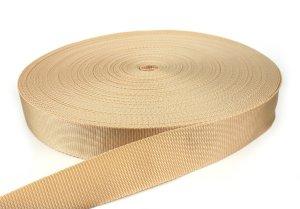 Gurtband 40 mm - PP - beige - 50-m-Rolle
