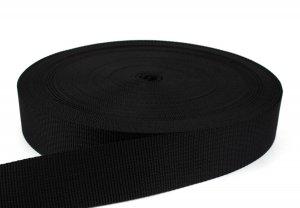 Gurtband 50 mm - PP - schwarz - 50-m-Rolle