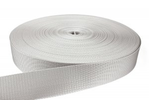 Gurtband 50 mm - PP - hellgrau - 50-m-Rolle