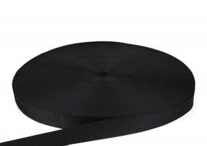 PES Gurtband - 30mm - schwarz - 100-m-Rolle