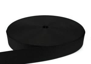 Gurtband D2B 50 mm - PP - schwarz - 50-m-Rolle