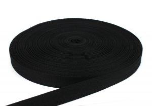 Stuhlbespanngurt, Flechtgurt 29 mm - Farbe schwarz 100 m