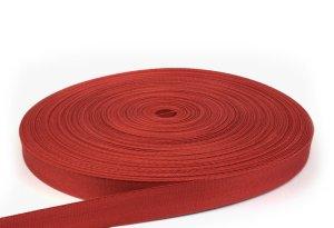 Stuhlbespanngurt, Geflechtgurt 29 mm - Farbe rot - 100 m