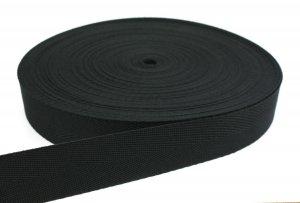 Stuhlbespanngurt Flechtgurt - 50 mm - schwarz - 50-m-Rolle