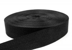 Flachsgurt 100 % thermisch verstreckt - 49 mm - schwarz 50 m