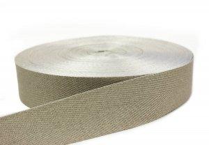 Flachsgurt 100 % thermisch verstreckt - 49 mm - natur 50 m