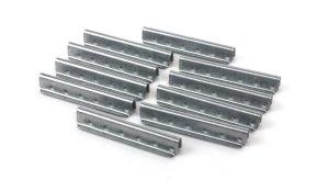 10 Klammern zum Verpressen von Gummigurten, Breite 60 mm