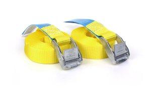 2x Spanngurte 4,25 m - Gelb mit Klemmschloss - DIN EN 12195-2 -PES