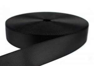 PES Gurtband B-Ware - 47 mm - schwarz - 50 m Rolle