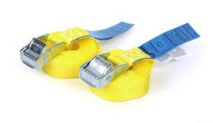 2x Spanngurte 3,0 m - Gelb mit Klemmschloss - DIN EN 12195-2 - PES